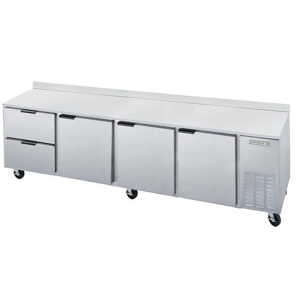 "Beverage-Air WTRD119AHC-2 119"" Compact Worktop Refrigerator - 3 Doors / 2 Drawers"