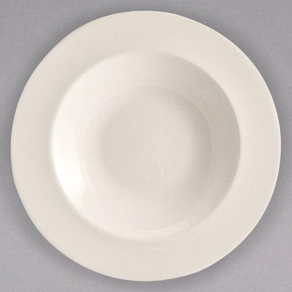 Homer Laughlin 44100 Unique Venetian 16 oz. Ivory (American White) China Pasta Bowl - 12/Case