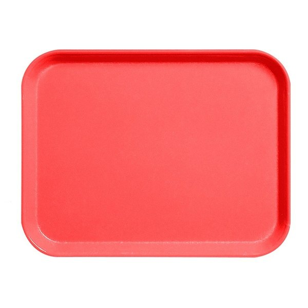"Cambro 1216CL675 12"" x 16"" Steel Red Camlite Tray - 12/Case"