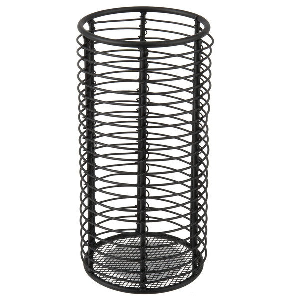 "Sterno 85240 2 7/8"" x 6"" Black Wire Horizontal Metal Lamp Base Main Image 1"