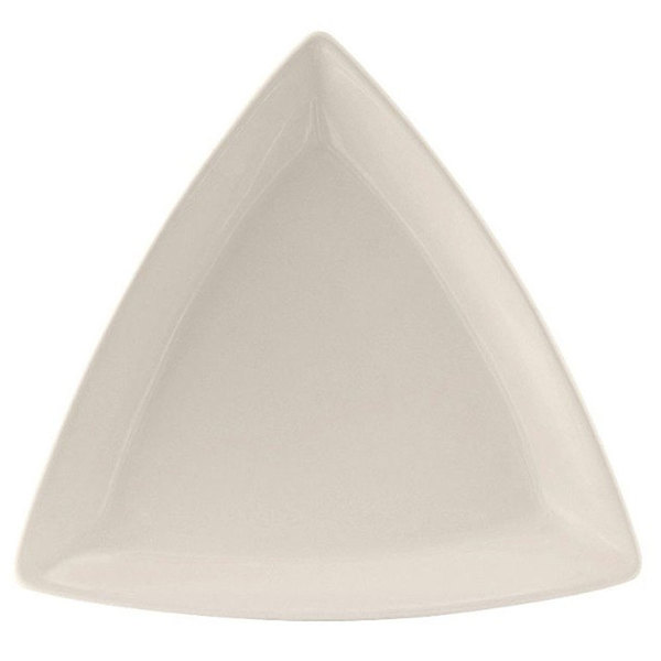 "Tuxton BEZ-0908 DuraTux 9"" Ivory (American White) Triangle China Plate - 12/Case"
