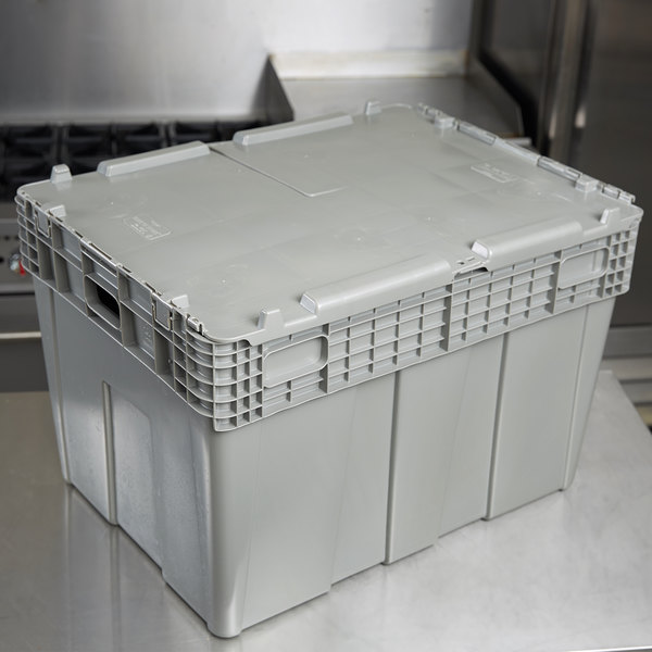 "Vollrath 52647 Tote 'N Store 26 5/8"" x 18 5/8"" x 18 3/4"" Gray Chafer Box Main Image 6"