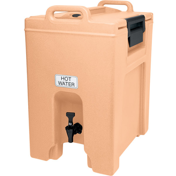 Cambro UC1000157 Ultra Camtainers® 10.5 Gallon Coffee Beige Insulated Beverage Dispenser Main Image 1
