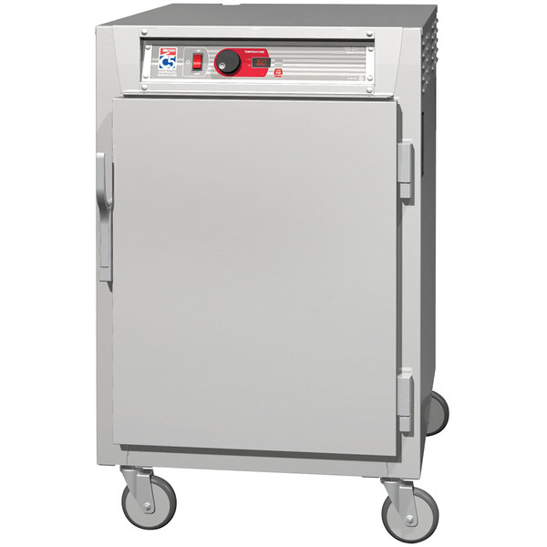 Metro C5 8 Series C585L-SFS-UPFS Half Size Insulated Low Wattage Pass-Through Holding Cabinet with Solid Door and Stainless Steel Universal Slides Main Image 1