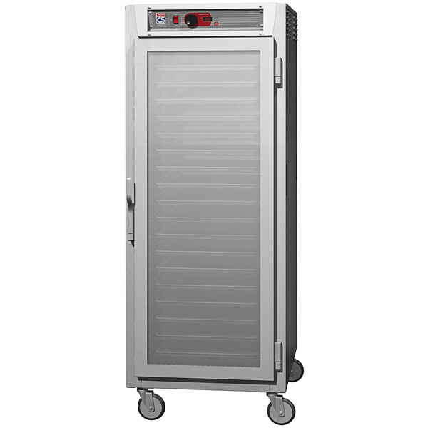Metro C5 8 Series C589L-SFC-UPFC Full Size Insulated Low Wattage Pass-Through Holding Cabinet with Clear Door and Chrome Universal Slides Main Image 1