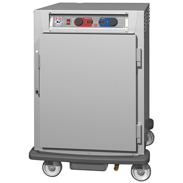 Metro C5 9 Series C595L-SFS-LPFC Half Size Insulated Low Wattage Pass-Through Holding Cabinet with Solid Door and Chrome Lip Load Slides Main Image 1