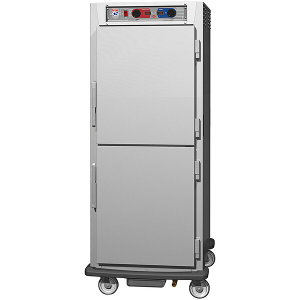 Metro C5 9 Series C599L-SDS-UPDC Full Size Insulated Low Wattage Pass-Through Holding Cabinet with Solid Dutch Doors and Chrome Universal Slides Main Image 1
