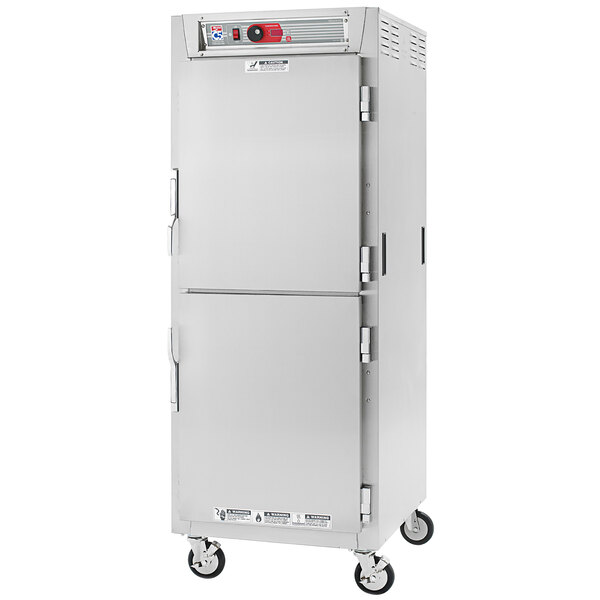 Metro C5 8 Series C589L-SDS-UPDS Full Size Insulated Low Wattage Pass-Through Holding Cabinet with Solid Dutch Doors and Stainless Steel Universal Slides Main Image 1