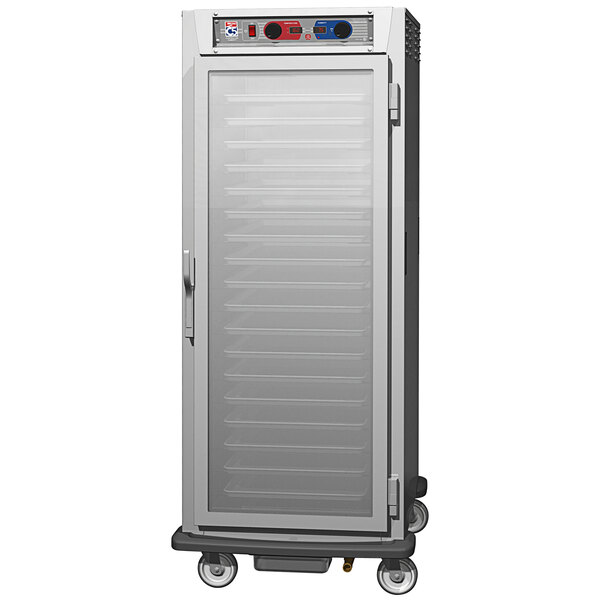 Metro C5 9 Series C599L-SFC-UPFS Full Size Insulated Low Wattage Pass-Through Holding Cabinet with Clear Door and Stainless Steel Universal Slides Main Image 1