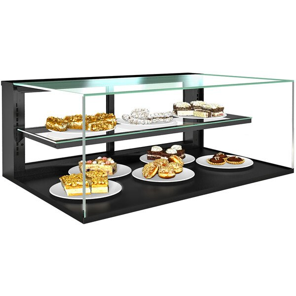 """Structural Concepts NR3620DSV Reveal 36"""" Non-Refrigerated Countertop Bakery Display Case with Shelf Main Image 1"""