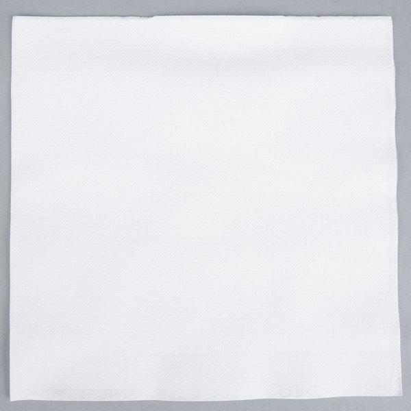 Hoffmaster FashnPoint 15 1/2 inch x 15 1/2 inch White 1/4 Fold Linen-Feel Dinner Napkin  - 800/Case