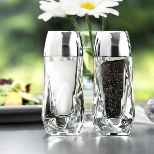 Libbey 5037 1.5 oz. Salt and Pepper Shaker - 4/Pack Main Image 6