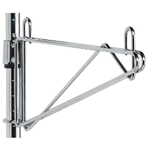 """Metro 1WS24S Super Erecta Stainless Steel Post-Type Wall Mount 24"""" Shelf Support"""