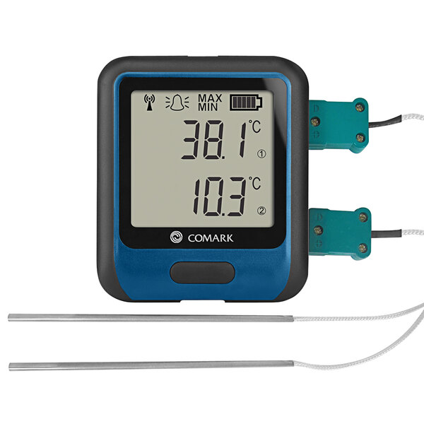 """Comark Diligence Wi-Fi Dual Channel Temperature Data Logger with Thermocouple Probes and 118"""" Cables RF314DUAL Main Image 1"""