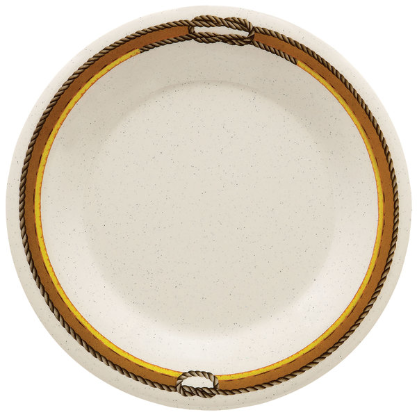 """GET WP-7-RD 7 1/2"""" Diamond Rodeo Wide Rim Plate - 48/Case"""