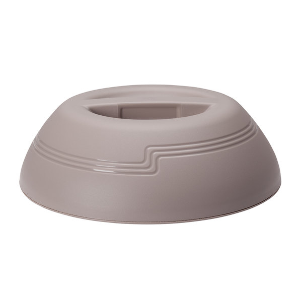 """Cambro MDSLD9457 Shoreline Collection Wheat 10 1/4"""" Low Profile Insulated Dome Plate Cover - 12/Case Main Image 1"""