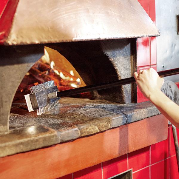 "30"" Pizza Oven / Broiler Brush with Scraper"