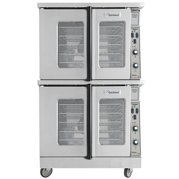 Garland MCO-GD-20S Natural Gas Double Deck Deep Depth Full Size Convection Oven with Analog Controls - 120,000 BTU Main Image 1