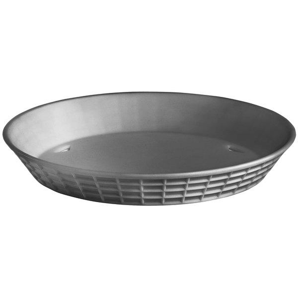 """Tablecraft 13759GM 9"""" Gunmetal Diner Platter / Fast Food Basket - 12/Pack"""