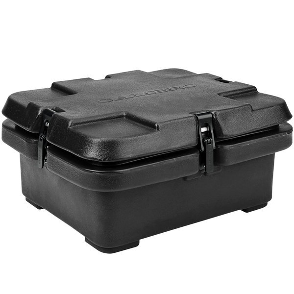 "Cambro 240MPC110 Camcarrier® Black Top Loading 4"" Deep Insulated Food Pan Carrier Main Image 1"