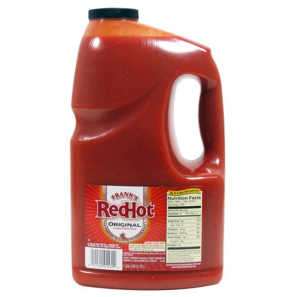 1 Gallon Frank's Original Red Hot Hot Sauce - 4/Case