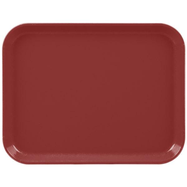"Cambro 1014CL675 10"" x 14"" Steel Red Camlite Tray - 12/Case"