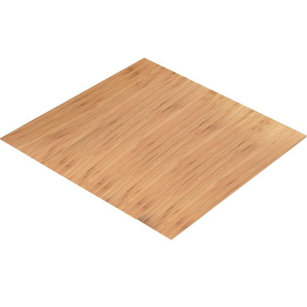 "Cal-Mil 1435-2424-60 Bamboo 24"" Square Riser Shelf"
