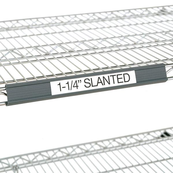 "Metro 9990SL2 Gray Slanted Plastic Label Holder 19"" x 1 1/4"""