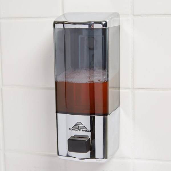 Advance Tabco 7-PS-12-X 20 oz. Wall Mount Push Button Soap Dispenser