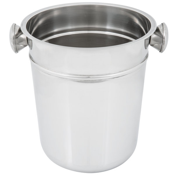 stainless steel ice bucket. Ideal For Table Service Or Room Applications, Simply Fill This Bucket With Ice To Add An Extra Flare Your Beverage Service. Stainless Steel