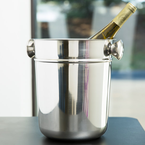 """9"""" Stainless Steel Wine / Champagne Bucket - 8 Qt. Main Image 5"""