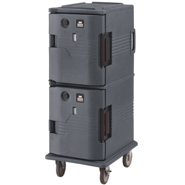 Cambro UPCH8002191 Ultra Camcart® Granite Gray Electric Hot Food Holding Cabinet in Fahrenheit - 220V Main Image 1
