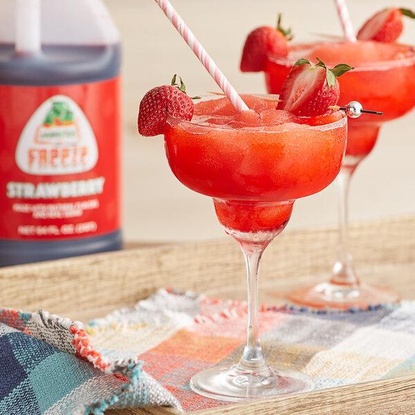 Jarritos 1/2 Gallon Strawberry Slushy 5:1 Concentrate - 6/Case Main Image 2