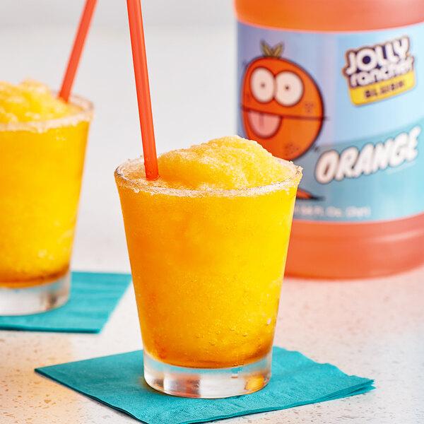 Jolly Rancher 1/2 Gallon Orange Slushy 5:1 Concentrate - 6/Case Main Image 2
