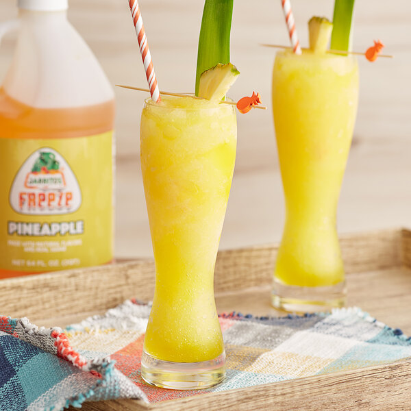 Jarritos 1/2 Gallon Pineapple Slushy 5:1 Concentrate - 6/Case Main Image 2
