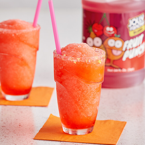 Jolly Rancher 1/2 Gallon Fruit Punch Slushy 5:1 Concentrate - 6/Case Main Image 2