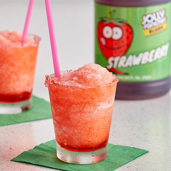 Jolly Rancher 1/2 Gallon Strawberry Slushy 5:1 Concentrate - 6/Case Main Image 2