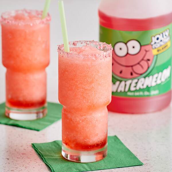 Jolly Rancher 1/2 Gallon Watermelon Slushy 5:1 Concentrate - 6/Case Main Image 2