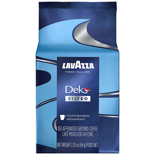 Lavazza Dek Filtro Decaf Coffee Packet 2.25 oz. - 30/Case Main Image 1