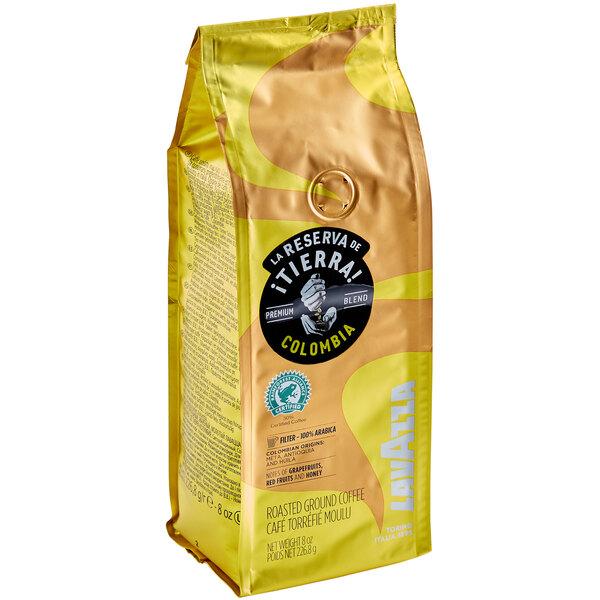 Lavazza Tierra! Colombia Coarse Ground Coffee 8 oz. - 6/Case Main Image 1