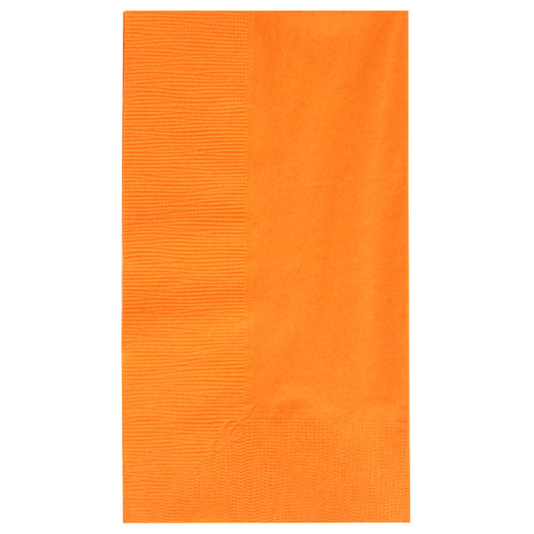 Orange Paper Dinner Napkin, Choice 2-Ply Customizable, 15 inch x 17 inch - 1000/Case
