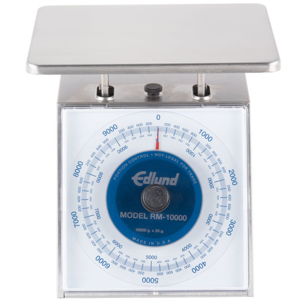"""Edlund RM-1000 Four Star Series 1000 g Metric Portion Scale with 7 3/4"""" x 7 1/2"""" Platform"""