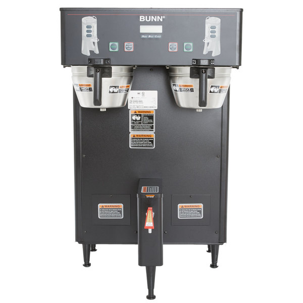 Bunn 34600.0003 BrewWISE Black Dual ThermoFresh DBC Brewer - 120/240V