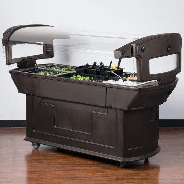 Carlisle 771101 Brown 6' Maximizer Portable Food / Salad Bar Main Image 3