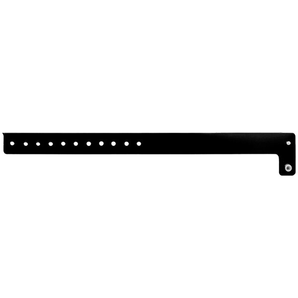 "Carnival King Black Disposable Vinyl Wristband 3/4"" x 10"" - 500/Box Main Image 1"