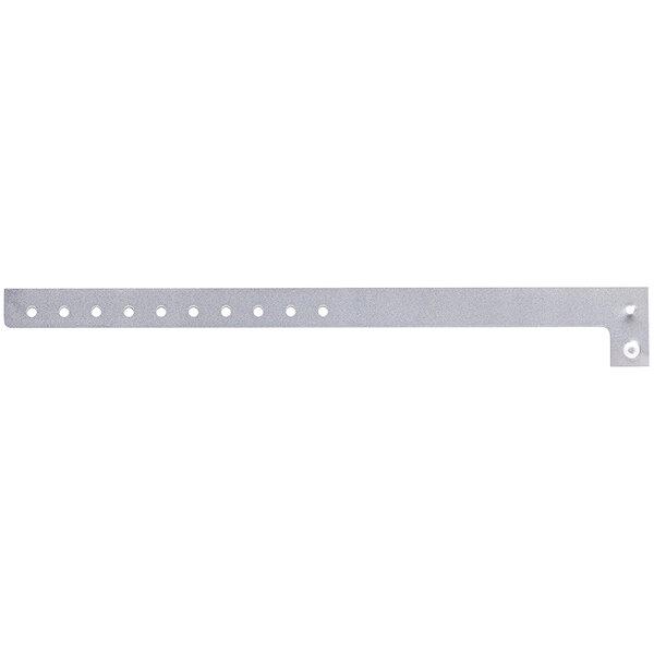"Carnival King Silver Disposable Plastic Wristband 5/8"" x 10"" - 500/Box Main Image 1"