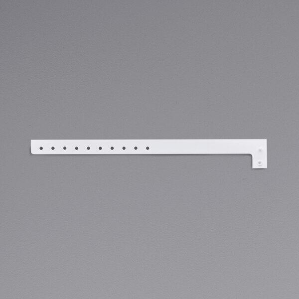 "Carnival King White Disposable Plastic Wristband 5/8"" x 10"" - 500/Box Main Image 1"