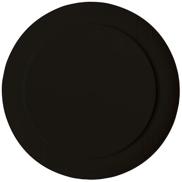 """GET RP-20-BK 20"""" Black Sonoma Melamine Plate - 6/Case"""