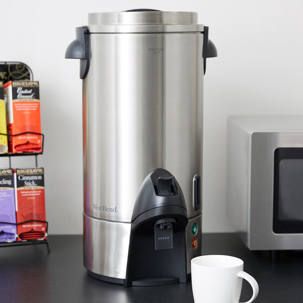 West Bend 54100 100 Cup Stainless Steel Coffee Urn