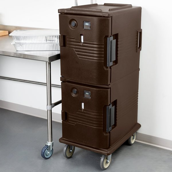 Cambro UPCH800131 Ultra Camcart® Dark Brown Electric Hot Food Holding Cabinet in Fahrenheit - 110V Main Image 5